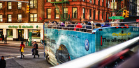 Tight Turn in Greenwich Village for City Sights Double Decker,New York
