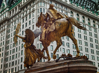 Saint Gaudiens' Sherman Memorial outside the Plaza,New York City