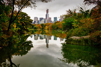 View over the Lake,Central Park,New York City